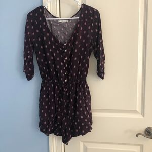 Abercrombie & Fitch Brown Romper Long Sleeve